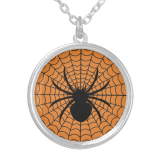 Halloween Spider Round Necklace
