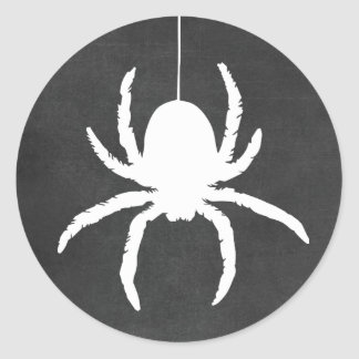 Halloween Spider Scary Black Chalkboard Stickers