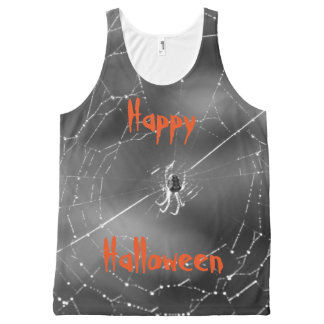Halloween spider t.shirt All-Over print tank top