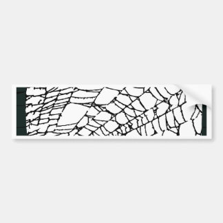 Halloween Spider Web Bumper Sticker