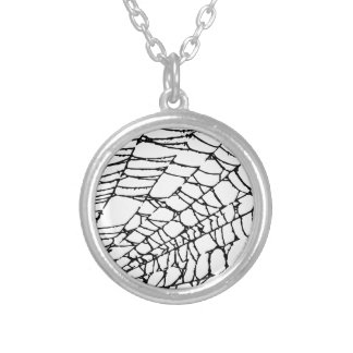 Halloween Spider Web Silver Plated Necklace