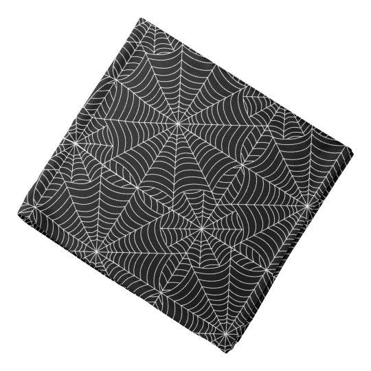 Halloween Spider Webs on Black Bandana