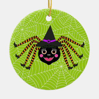 Halloween Spider Witch Personalized Christmas Ornament