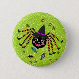 Halloween Spider Witch with Candy Round 6 Cm Round Badge