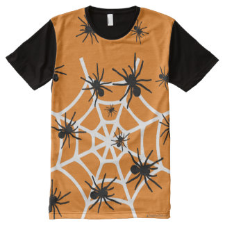 Halloween Spiders All-Over Print T-Shirt