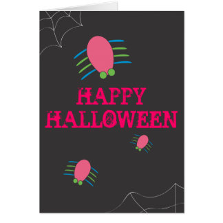 Halloween Spiders Greeting Card