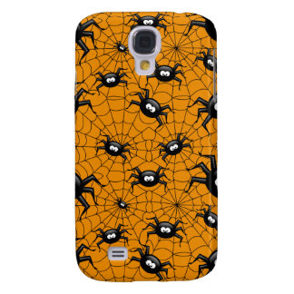 halloween spiders on spider web galaxy s4 case