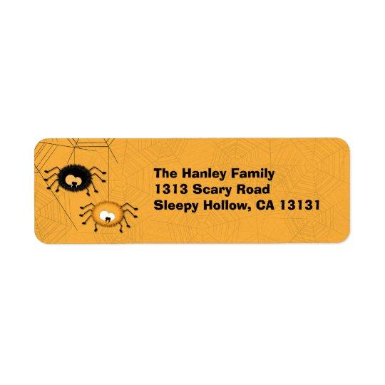 Halloween Spiders Return Address Label