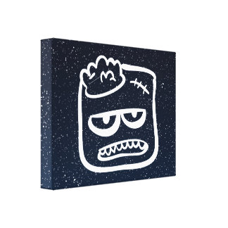 Halloween Sponges Symbol Gallery Wrapped Canvas