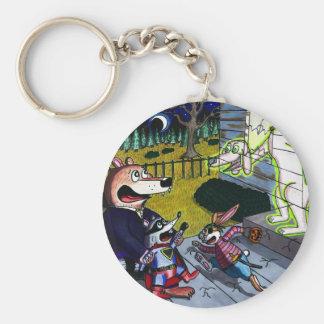 Halloween Spook Basic Round Button Key Ring