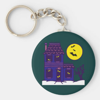 Halloween spook house striking Ted mansion Keychains