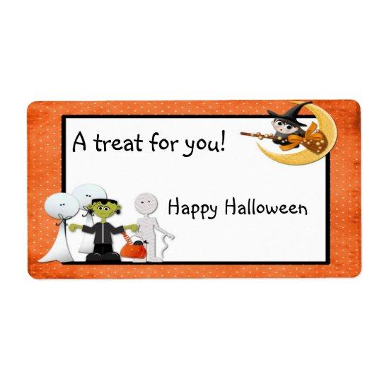 Halloween Spooks Label