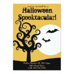 Halloween Spooktacular- Orange 5x7 Paper Invitation Card