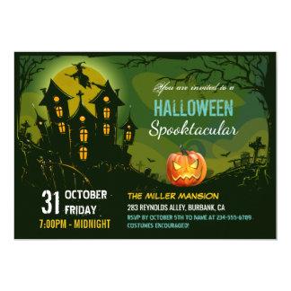 Halloween Spooktacular Party Creepy Haunted House Card