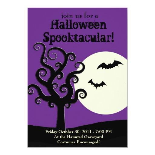Halloween Spooktacular- Purple 13 Cm X 18 Cm Invitation Card