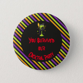 Halloween Spooky Cocktails Party 6 Cm Round Badge