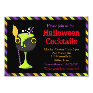 Halloween Spooky Cocktails Party Card