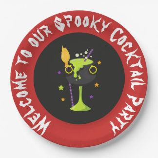 Halloween Spooky Cocktails Party Paper Plate