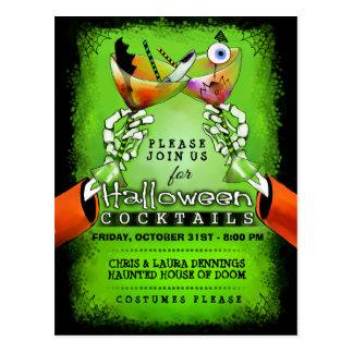Halloween Spooky Cocktails Postcard Invitation