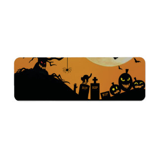 Halloween Spooky Fun Return Address Label