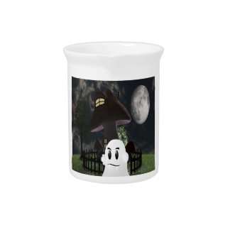 Halloween spooky ghost pitcher