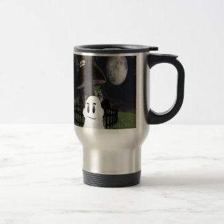 Halloween spooky ghost travel mug