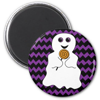 Halloween Spooky Ghost with Lollipop Magnet