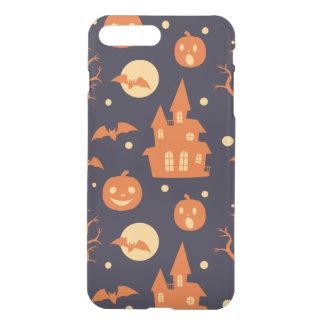 Halloween Spooky House Bats Trees Pumpkin Pattern iPhone 7 Plus Case