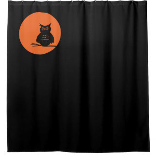 Halloween ~ Spooky Owl Shower Curtain