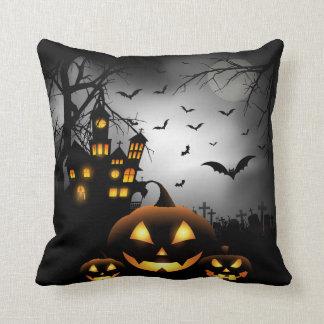 Halloween - Spooky Pumpkins Grey Moon - All Opt Cushion