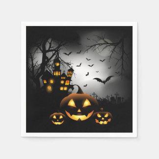 Halloween - Spooky Pumpkins Grey Moon - All Opt Disposable Napkins