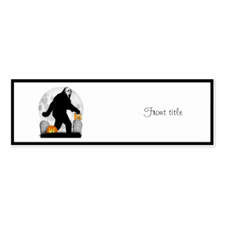 Halloween Squatchin' (Add Background Color) Business Card