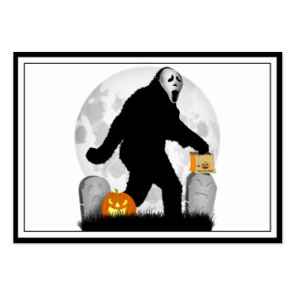 Halloween Squatchin' (Add Background Color) Business Card Templates