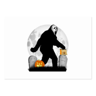 Halloween Squatchin' (Add Background Color) Business Card Template