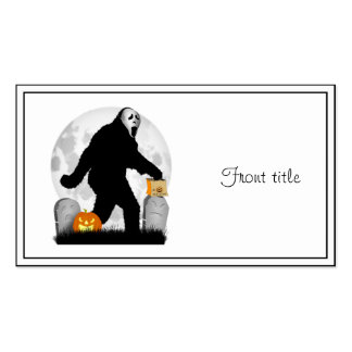 Halloween Squatchin Add Background Color Business Card Templates