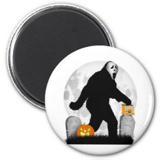 Halloween Squatchin' (Add Background Color) Refrigerator Magnet