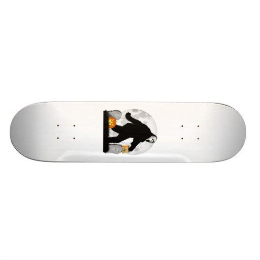 Halloween Squatchin' (Add Background Color) Skateboard