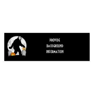Halloween Squatchin' Double-Sided Mini Business Cards (Pack Of 20)