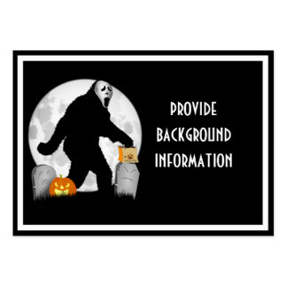 Halloween Squatchin' Business Card Templates