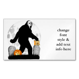 Halloween Squatchin' Magnetic Business Cards