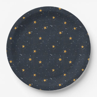 Halloween Starry Night Paper Plate