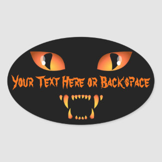 Halloween Stickers Personalized Spooky Cat Sticker