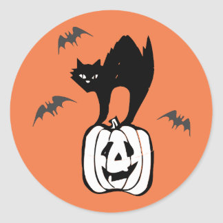 """""""Halloween Stickers"""" Round Sticker"""