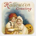 Halloween Storytelling Square Sticker