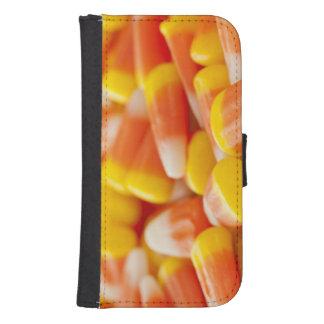 Halloween Striped Candy Corn Samsung S4 Wallet Case