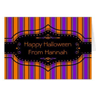 Halloween Stripes Too Card
