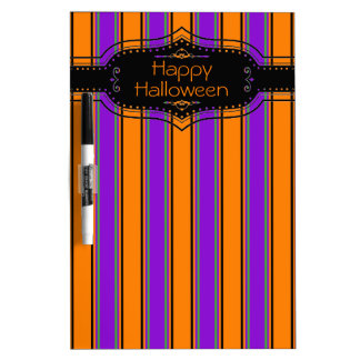 Halloween Stripes Too Personalized Dry Erase Board
