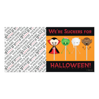 Halloween Suckers v2 Personalized Photo Card