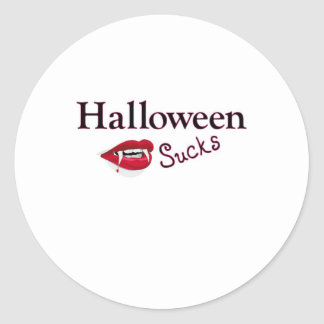 Halloween Sucks Round Sticker