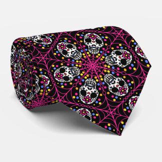 Halloween sugar skulls necktie